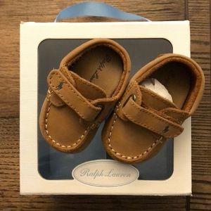 Ralph Lauren Captain leather baby shoes